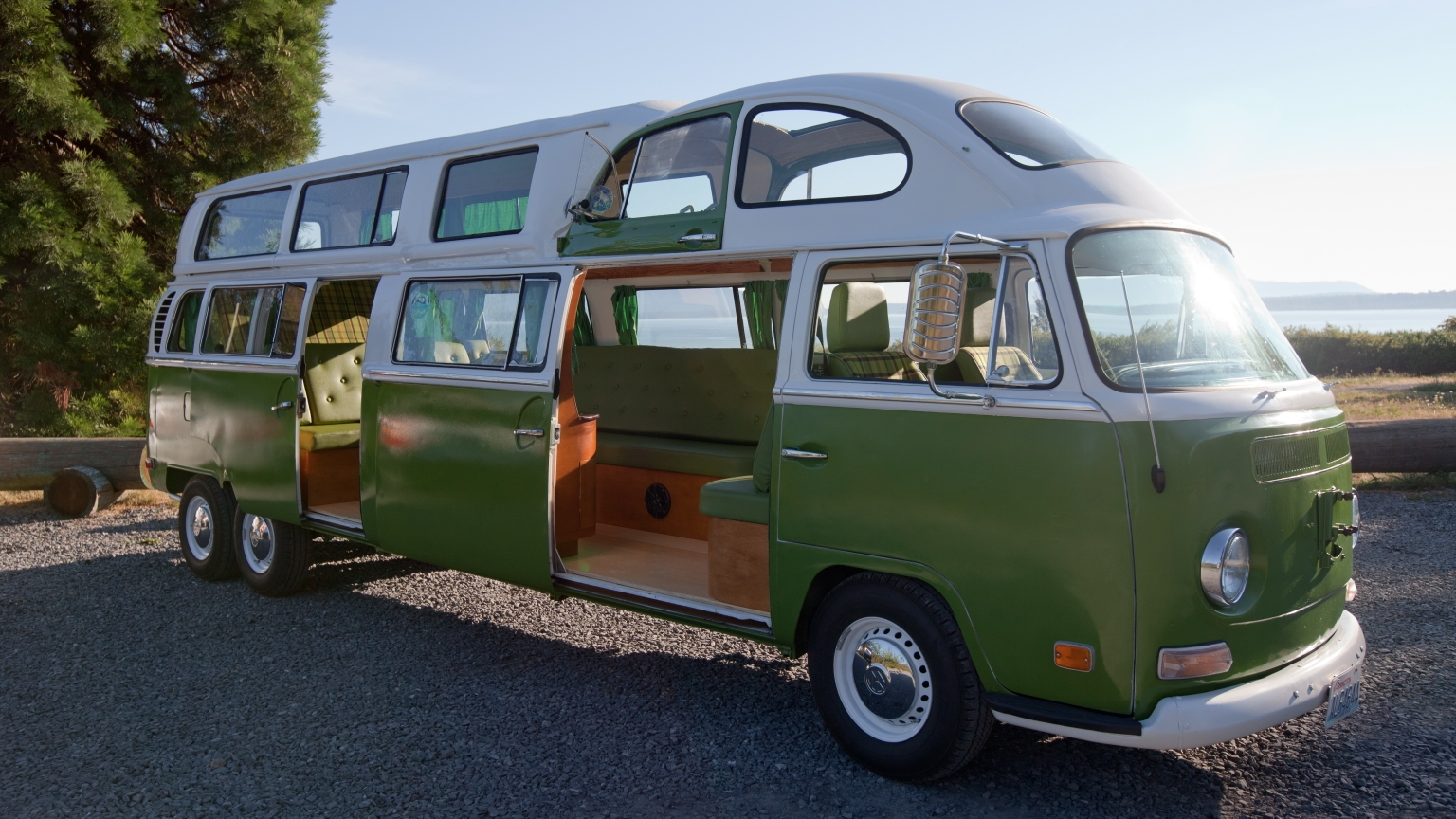 Bus stretch limo camper pictures pictures to pin on pinterest